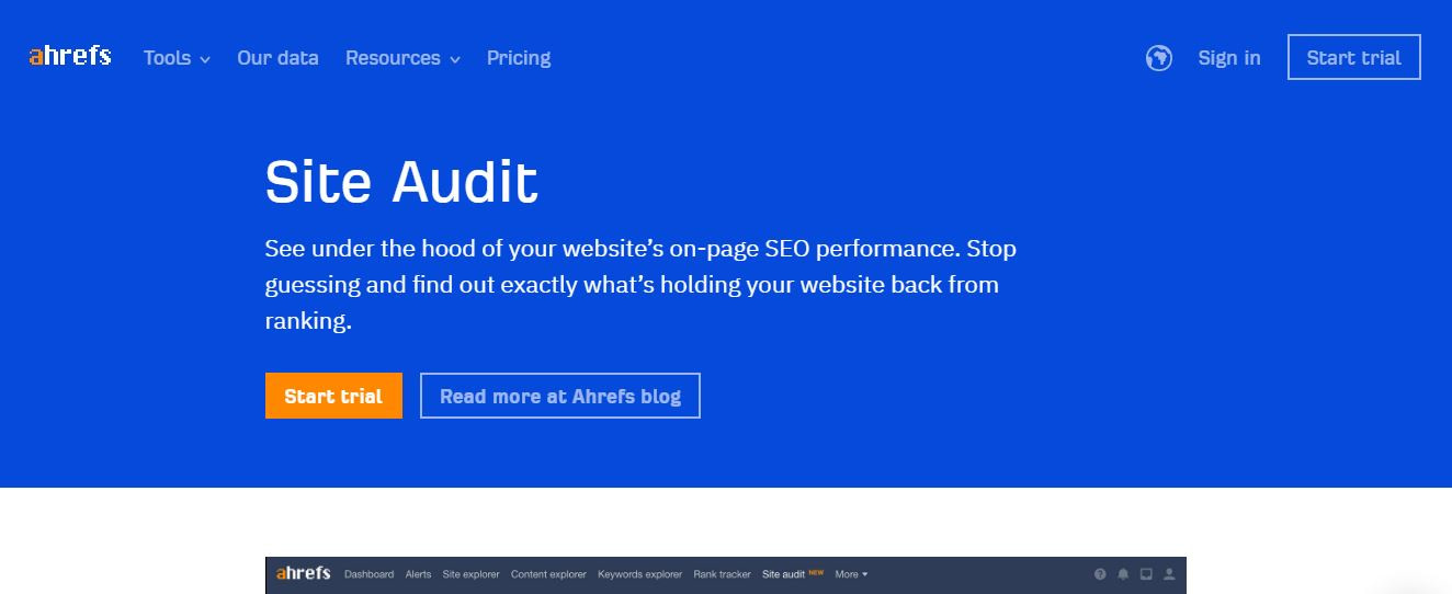 ahrefs seo audit tools
