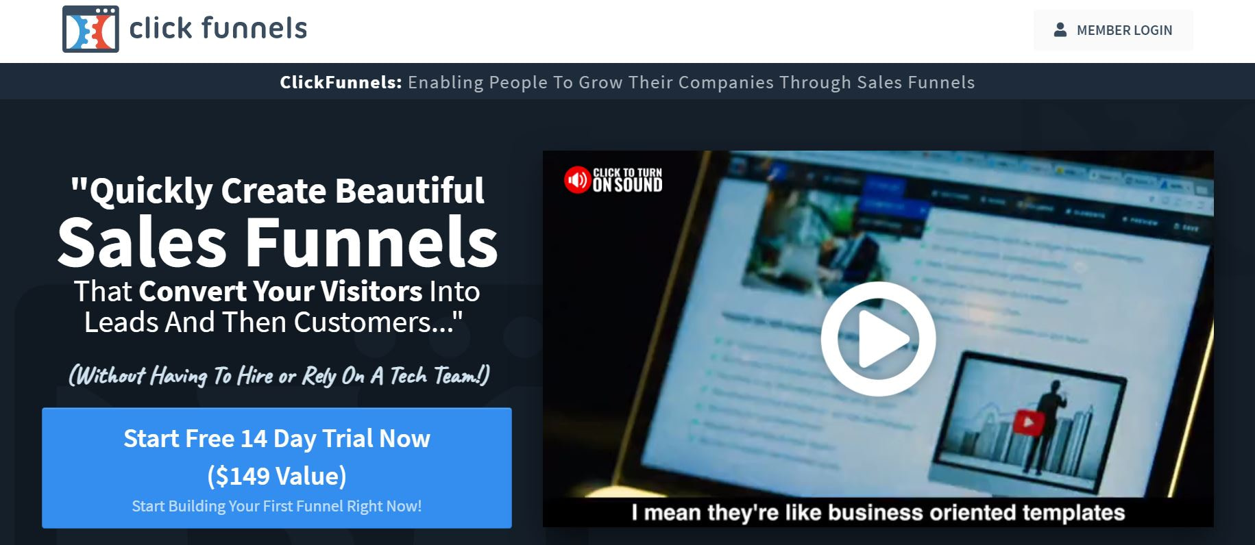 ClickFunnels is one of th ebest sales funnel tools