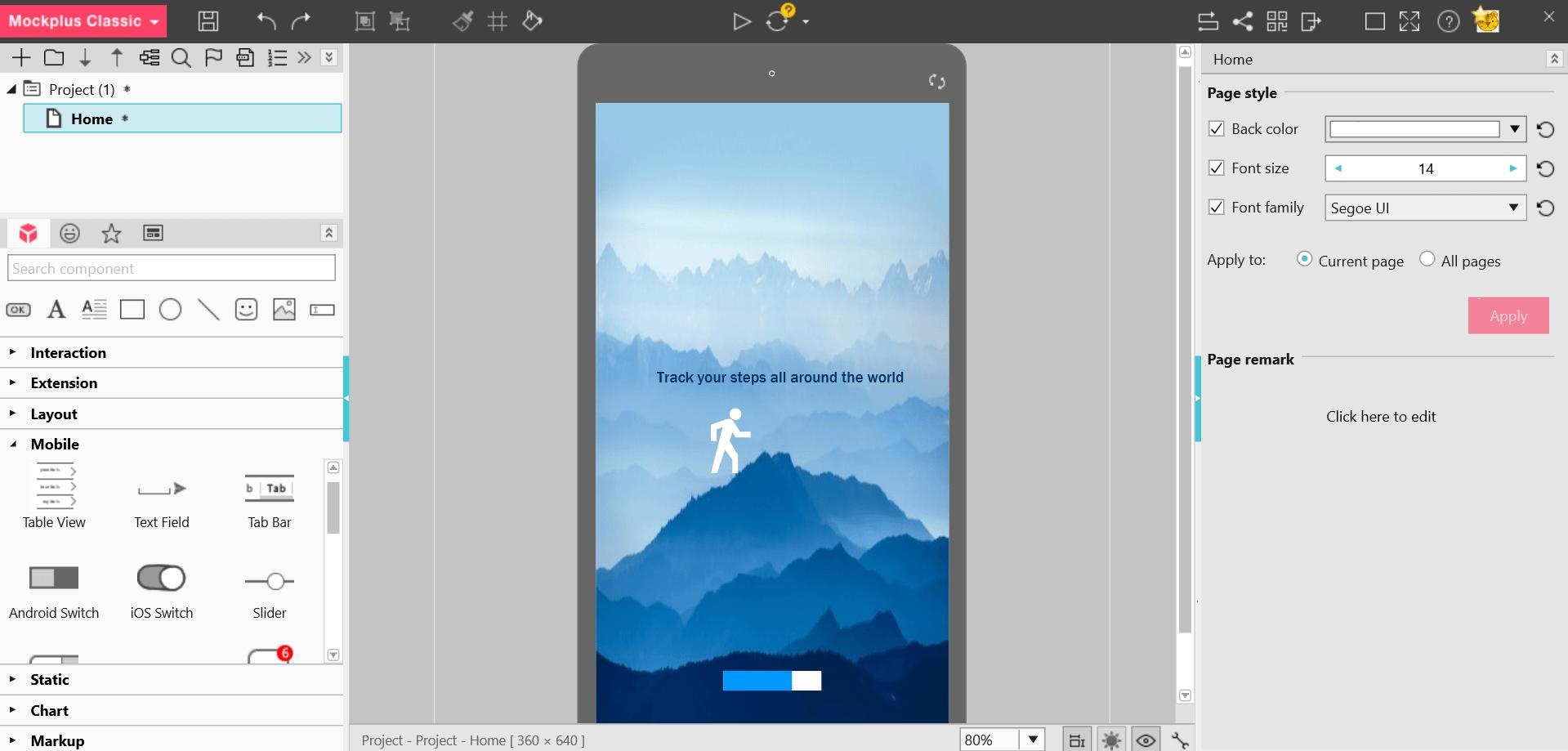 Mockplus design tool interface
