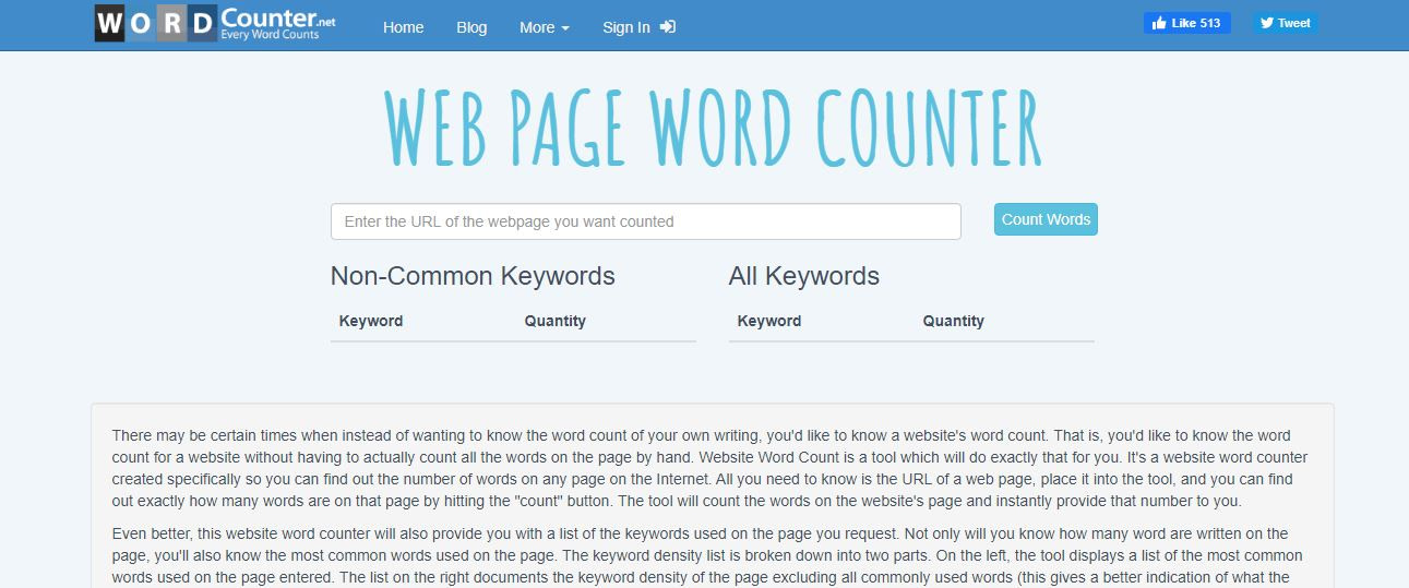 WordCounter best SEO audit tools