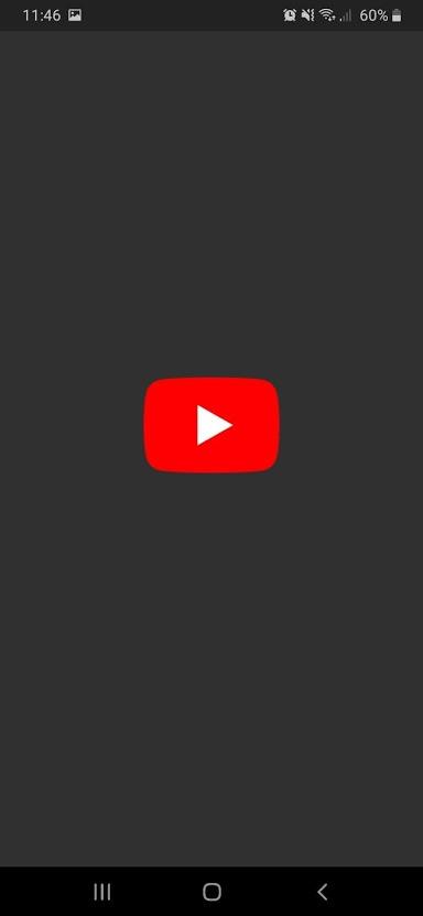 YouTube splash screen