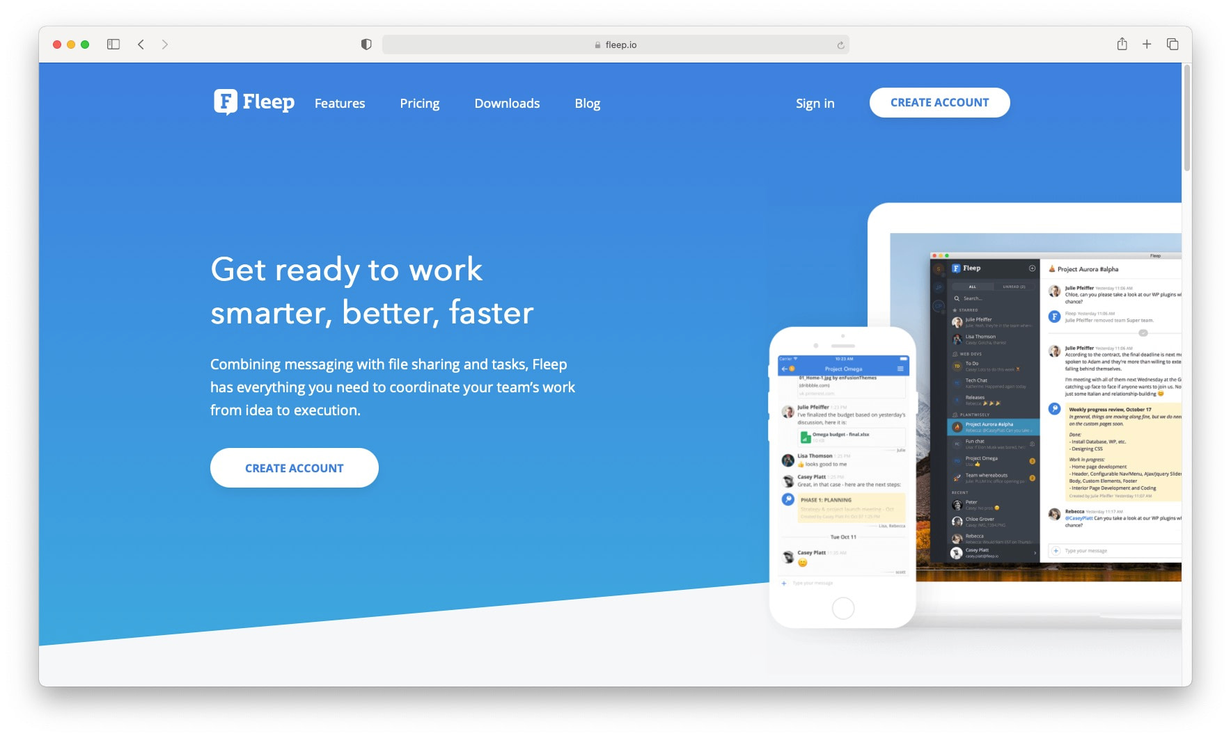 Fleep is one of the best free Slack alternatives