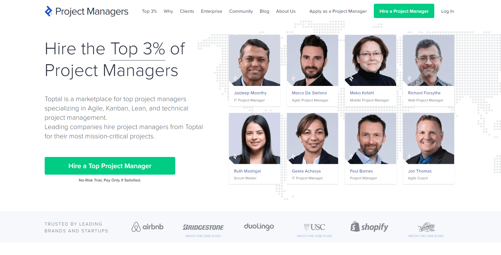 toptal - freelance project manager