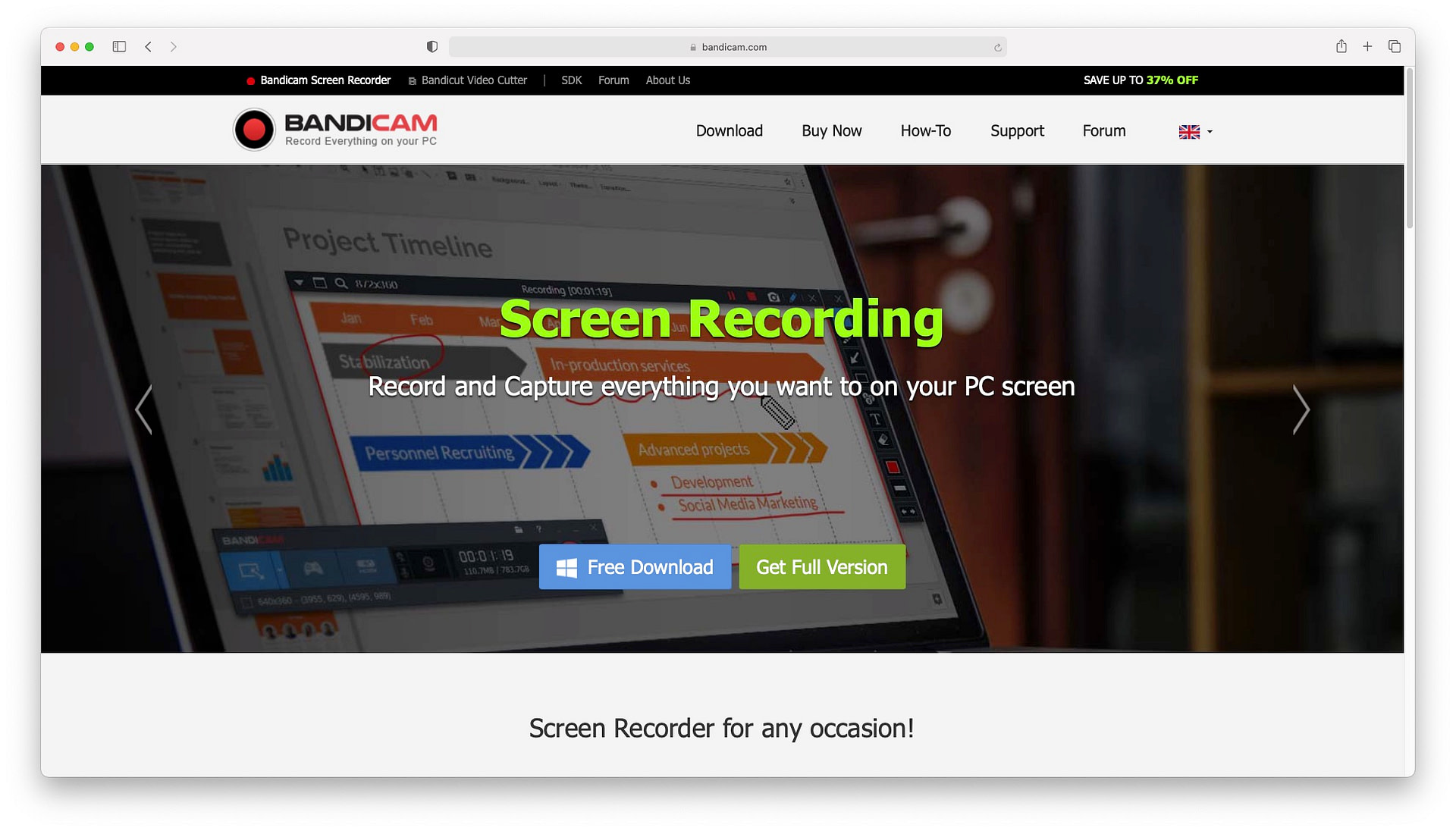 Bandicam - one of the best screen recording software