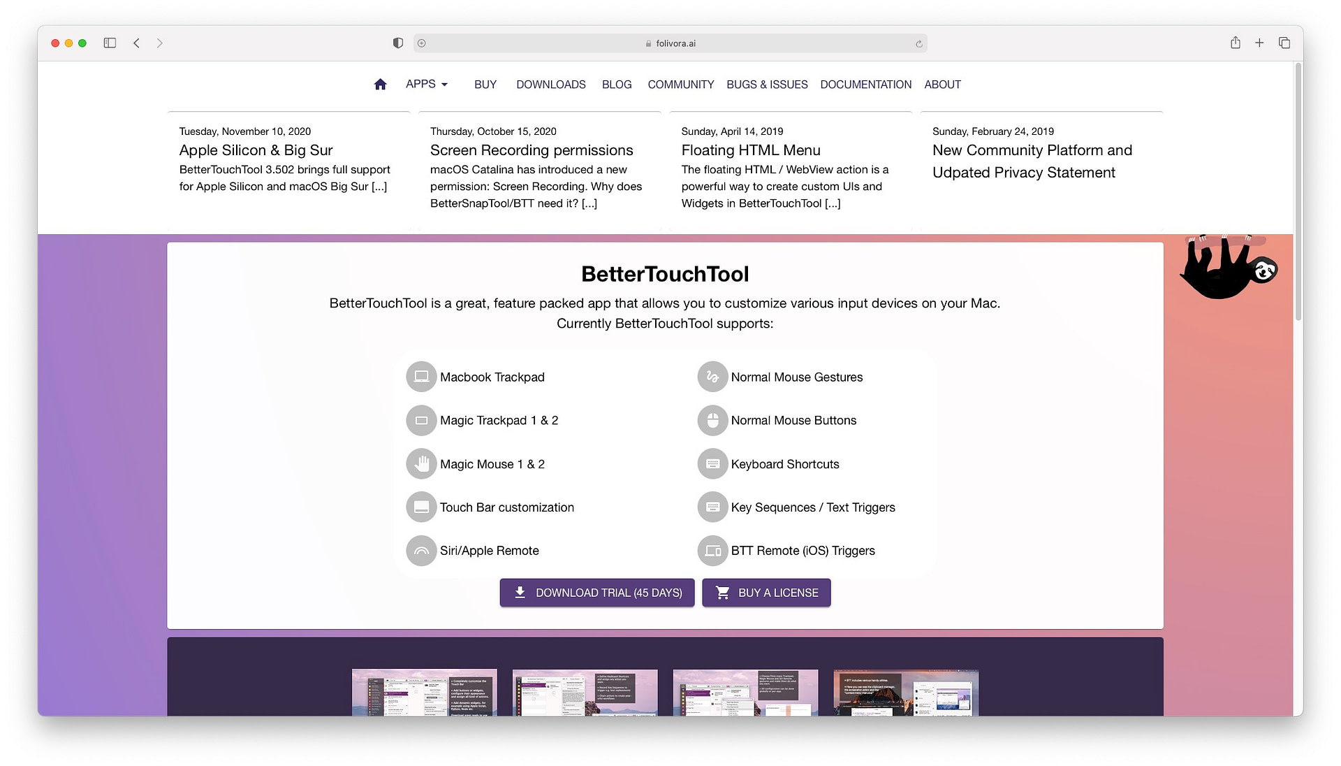 Best productivity apps for Mac: BetterTouchTool