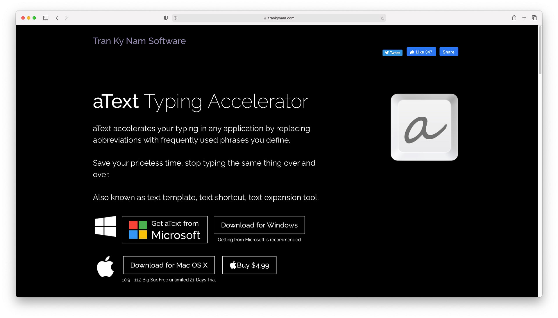 Best productivity apps for Mac: aText