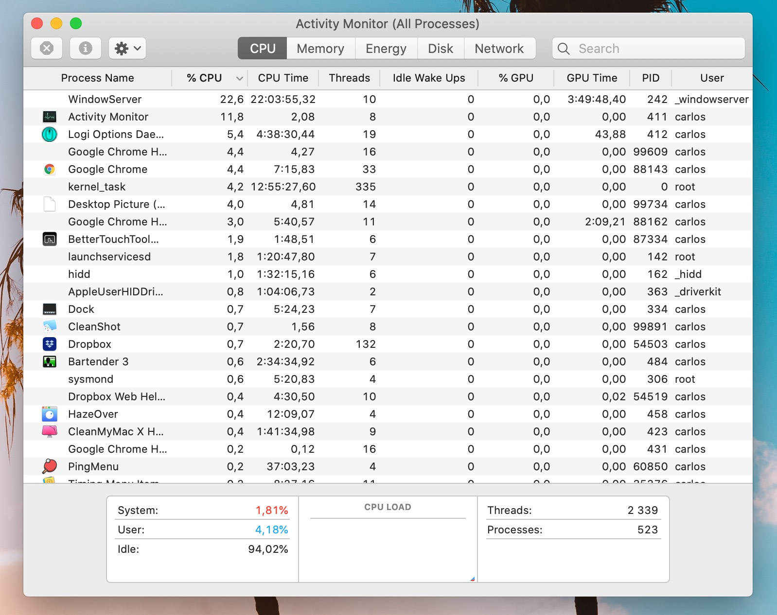 How to speed up Mac: use Activity Monitor