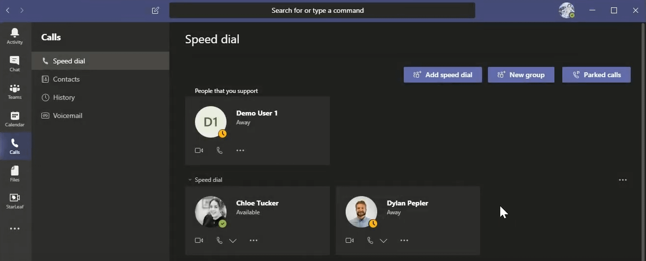Slack vs Teams: Accessing the calls tab from Teams