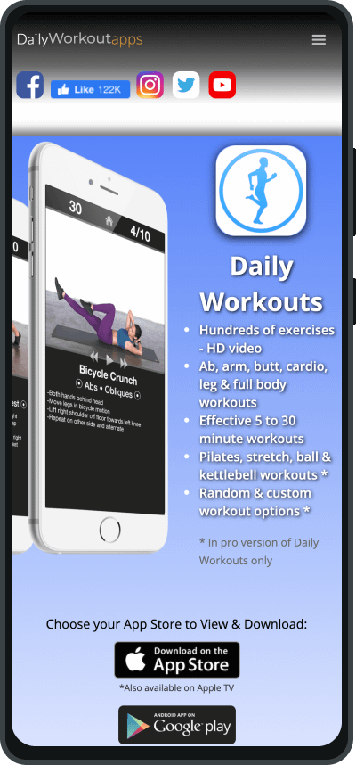 Daily Workout apps