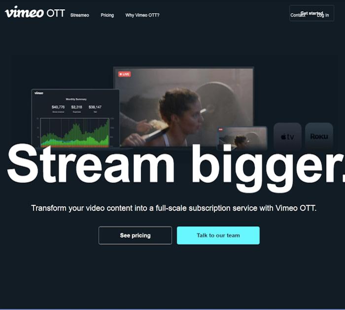 Best OTT platforms: Vimeo