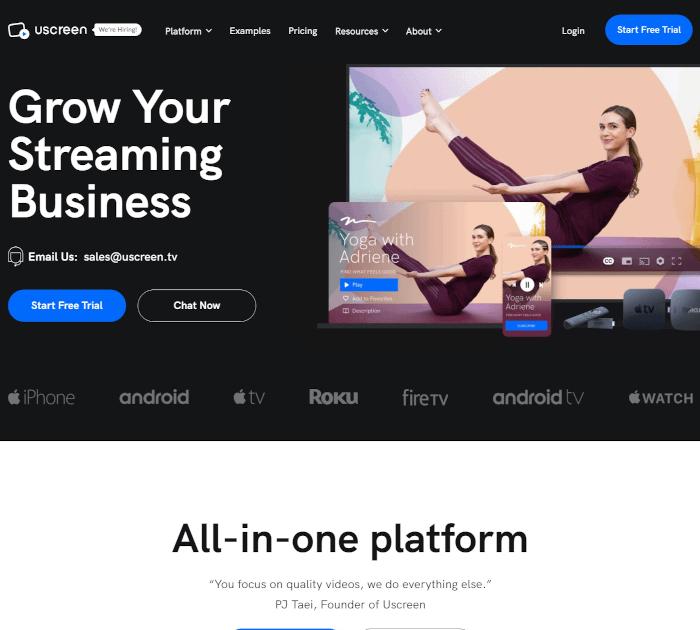 Best OTT platforms: Uscreen