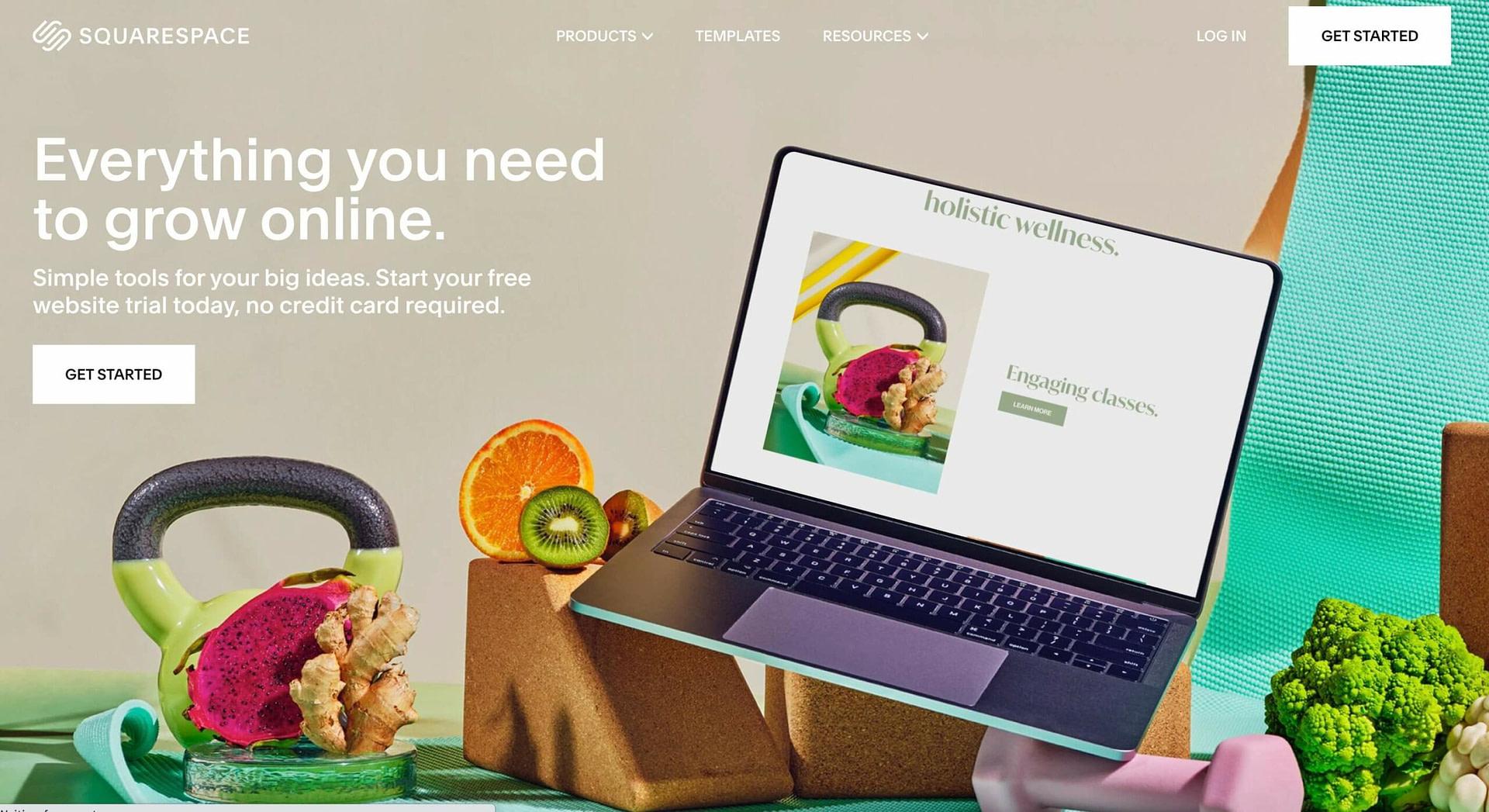 The Squarespace website builder.