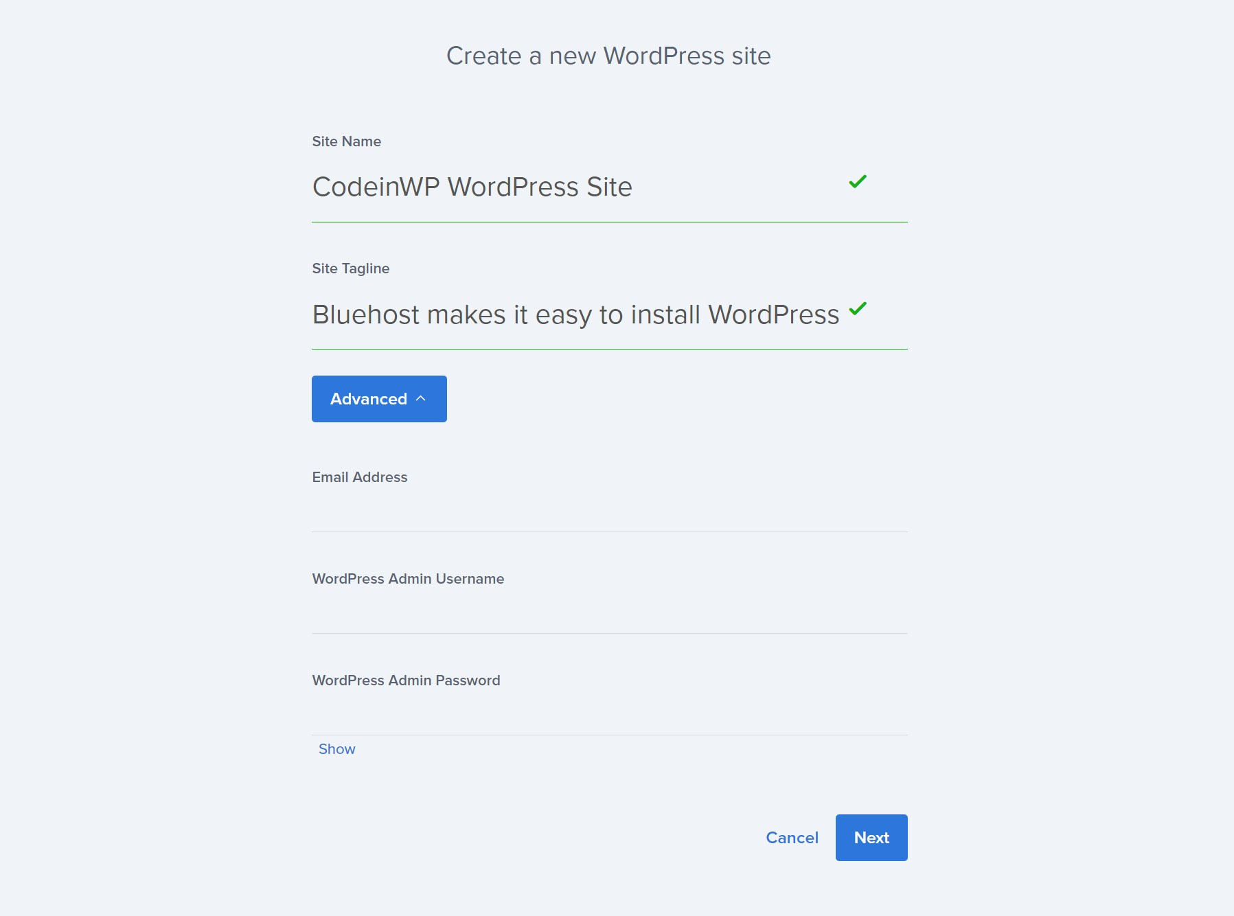 Squarespace vs WordPress: WordPress install tool