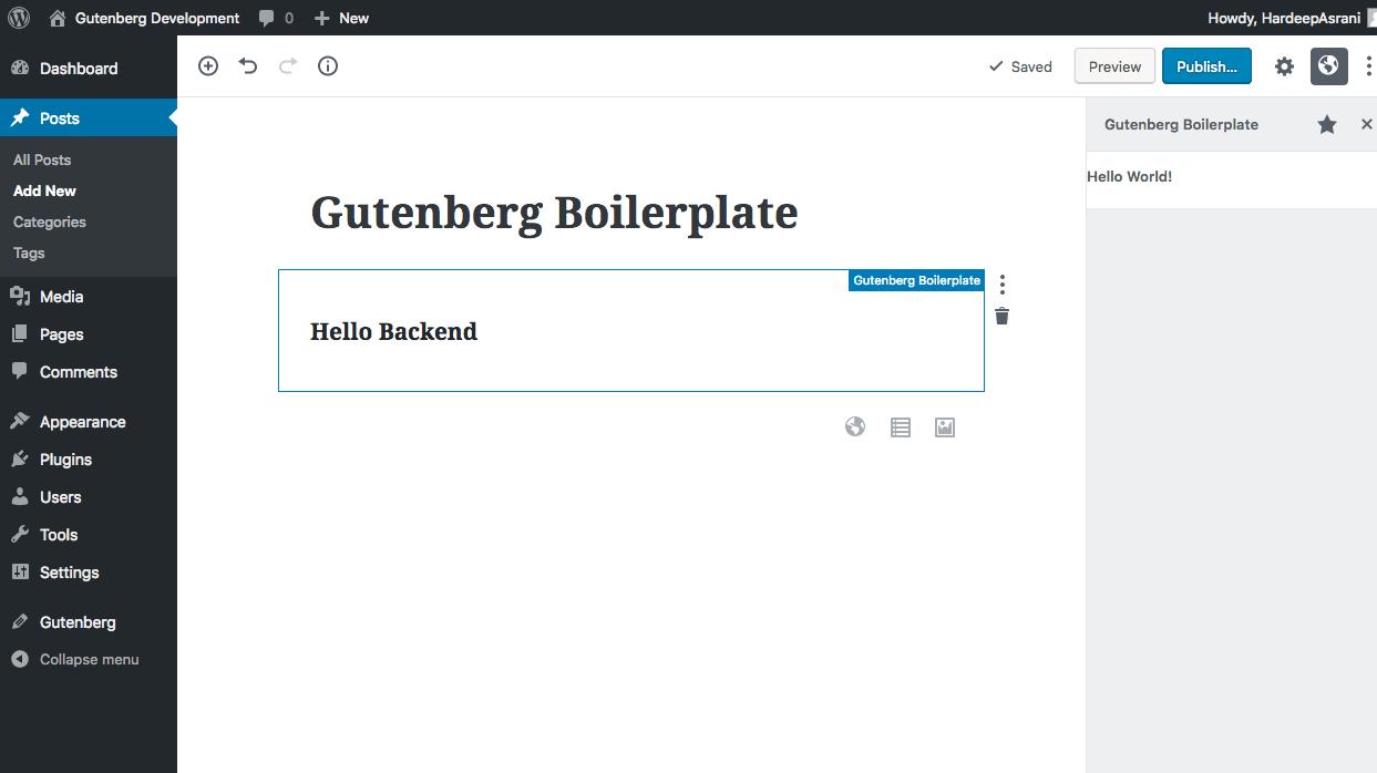 Gutenberg Boilerplate