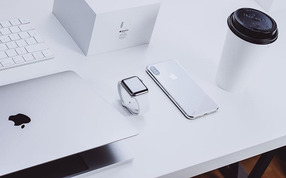 Apple's white color palette.