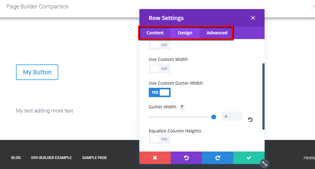 divi builder styling