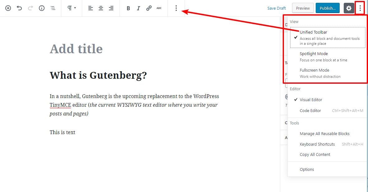 Gutenberg views