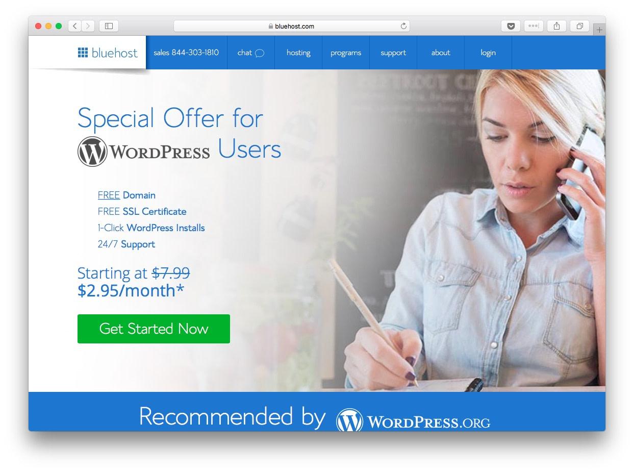 Fastest WordPress hosting: bluehost