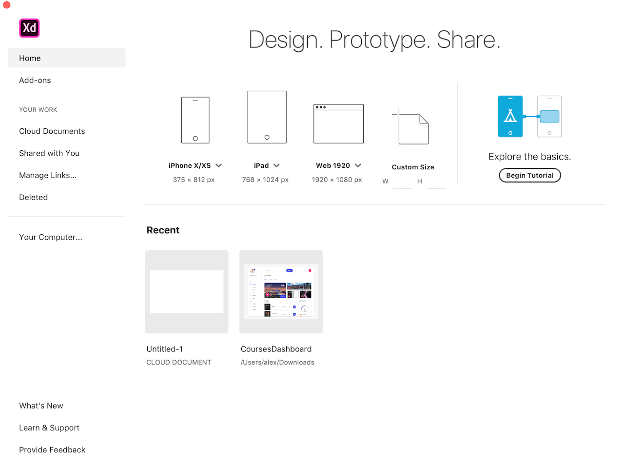 Prototype and Design with Adobe XD