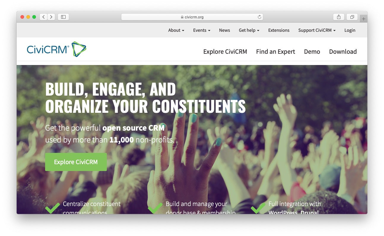 Best free and open source CRM: civicrm