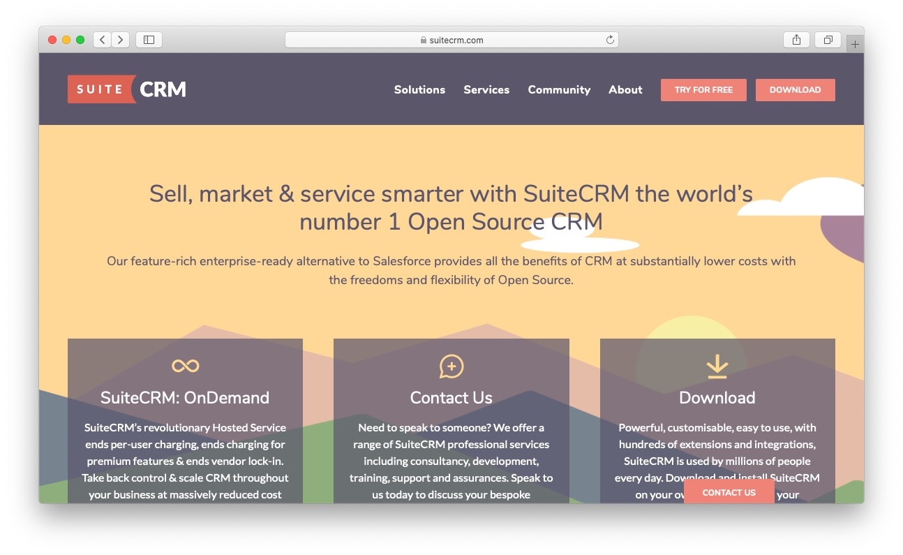 Best free and open source CRM: suitecrm