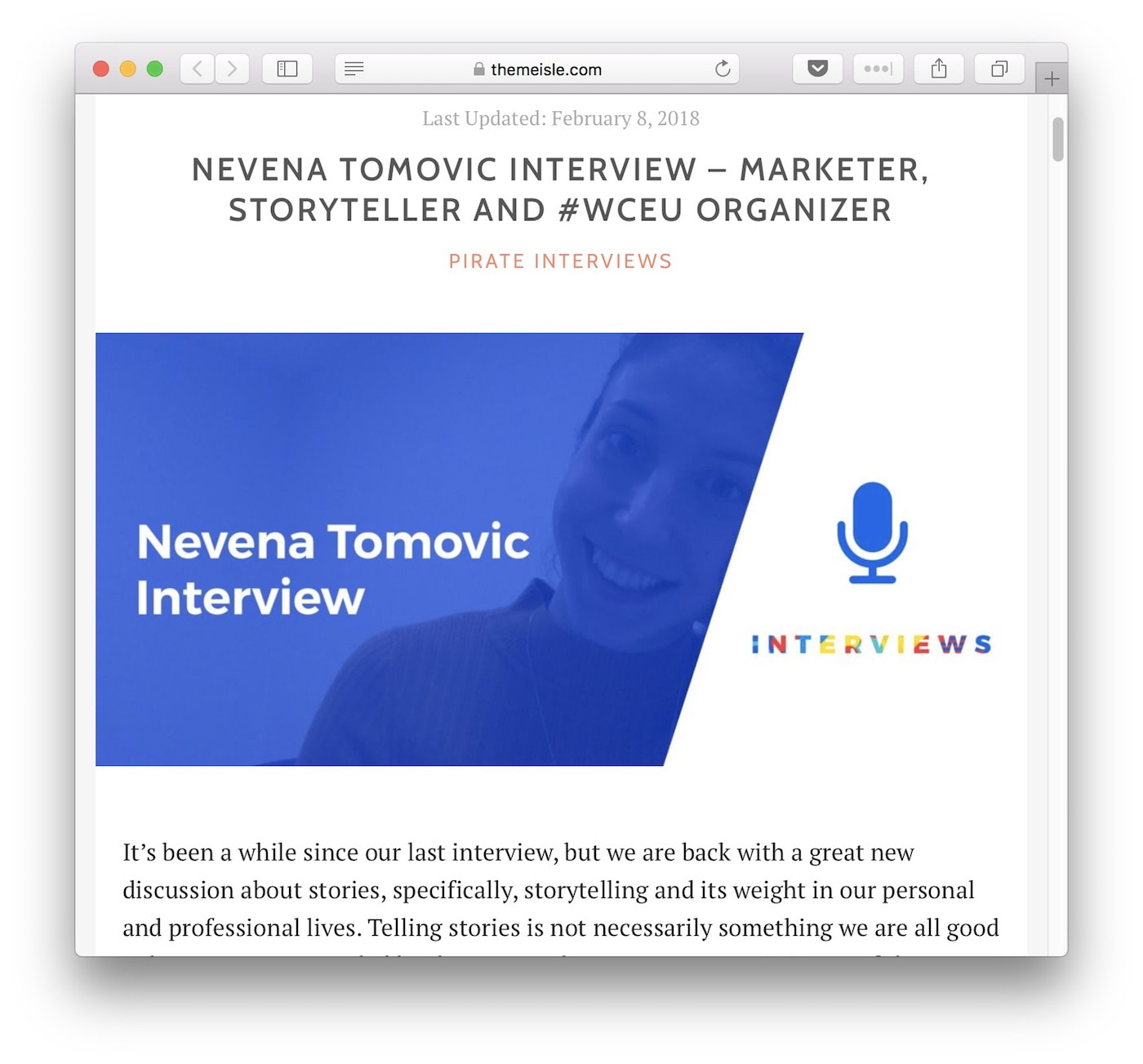 Blog interviews on ThemeIsle
