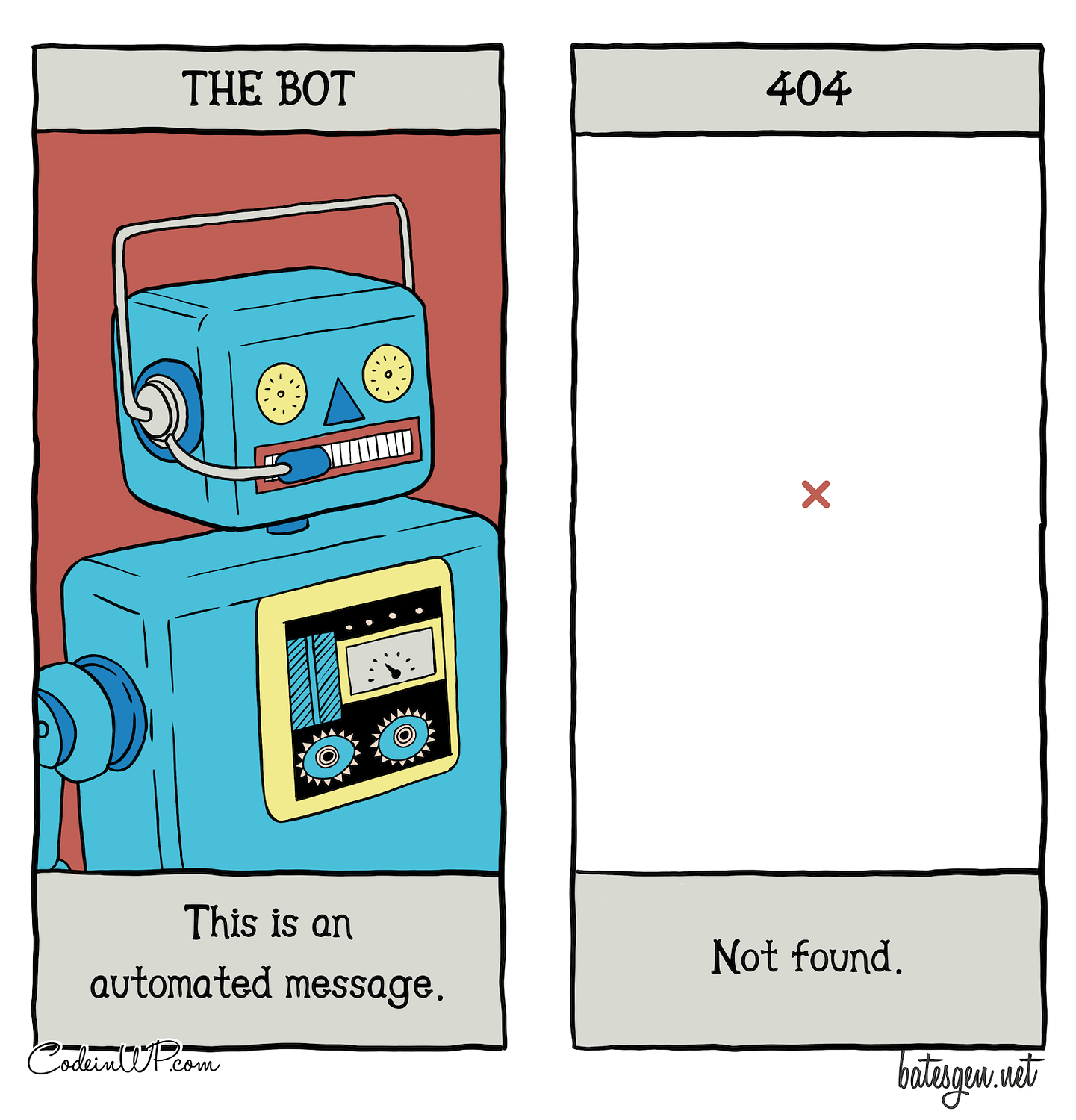 The perils of living in the digital realm: robots and 404 pages