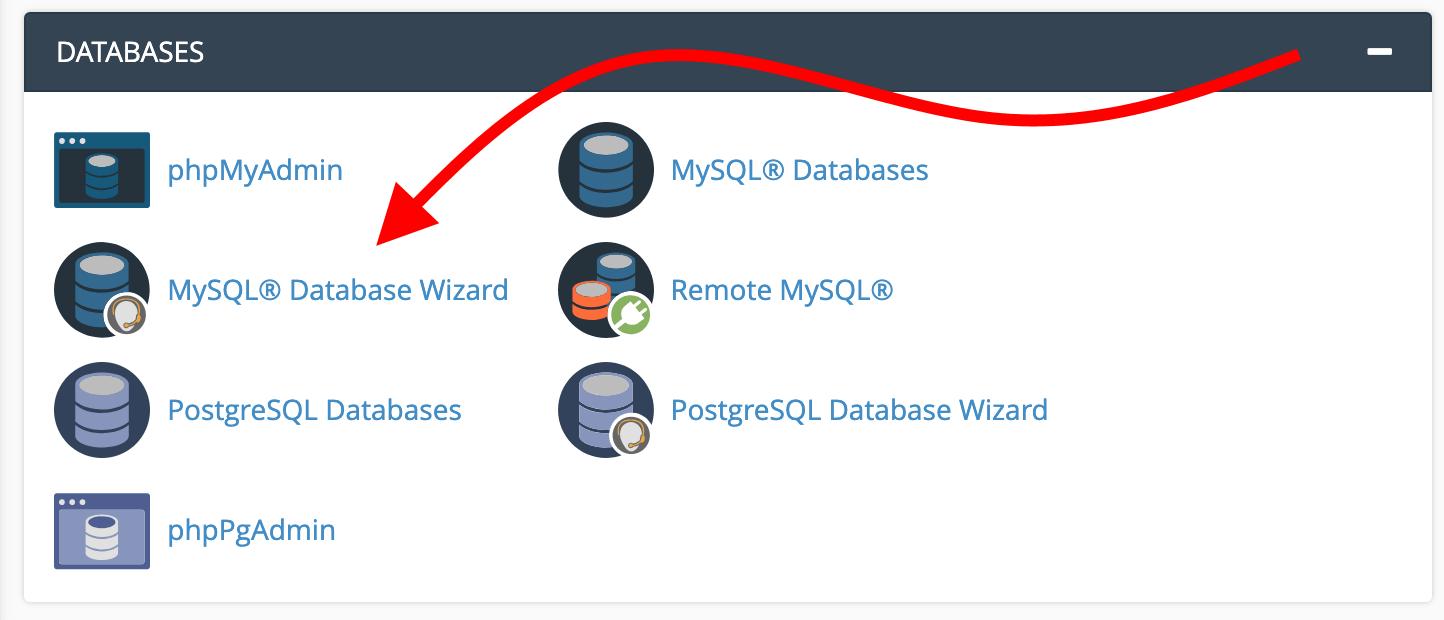 database wizard