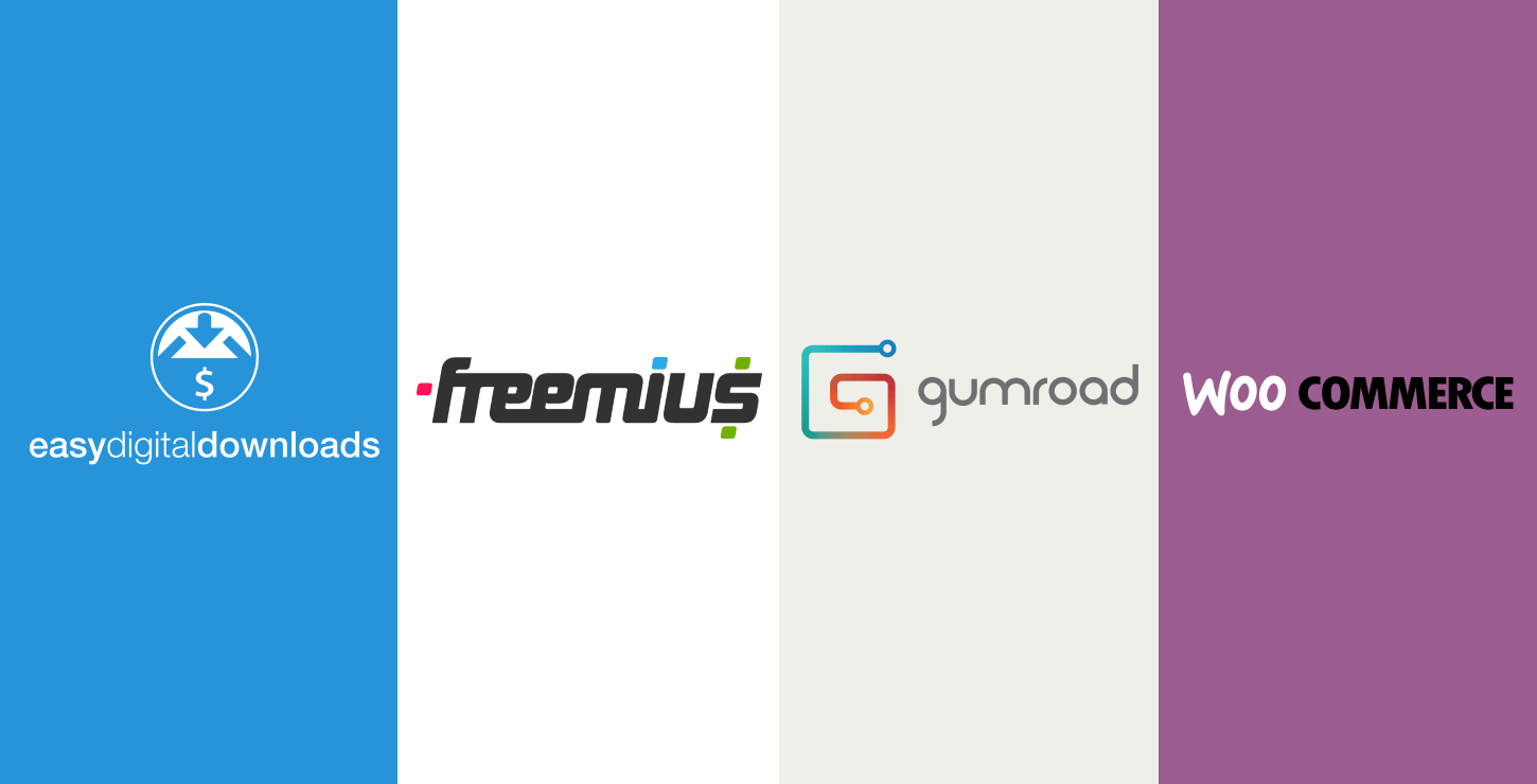 EDD vs Freemius vs Gumroad vs WooCommerce