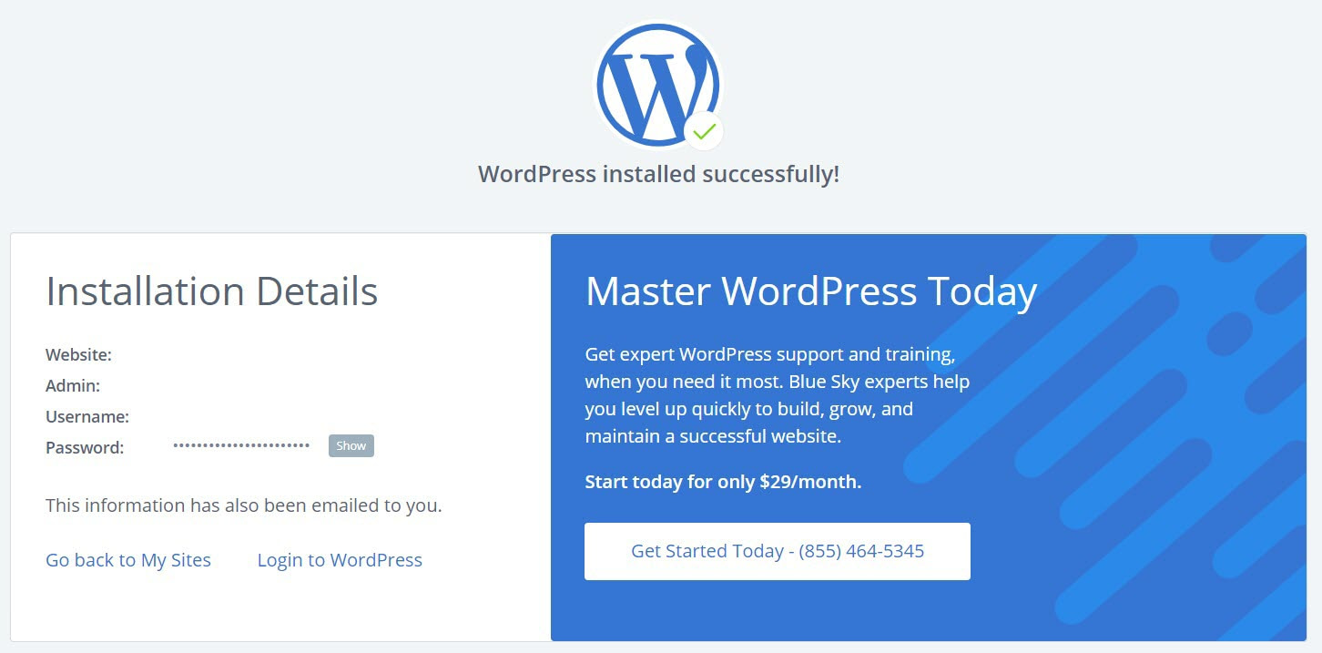 how to build your own website by installing WordPress on Bluehost