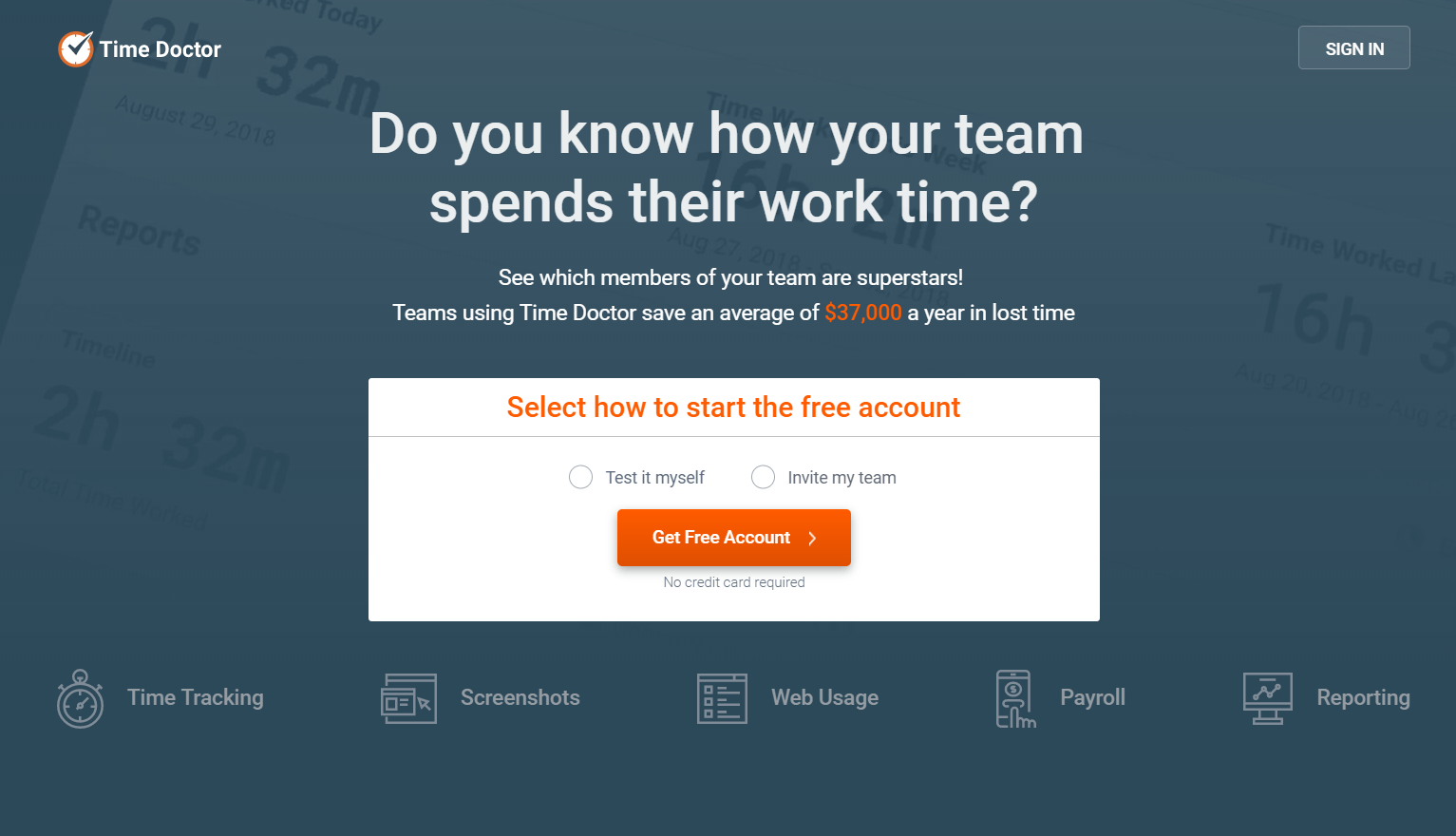 employee time tracking app: time doctor
