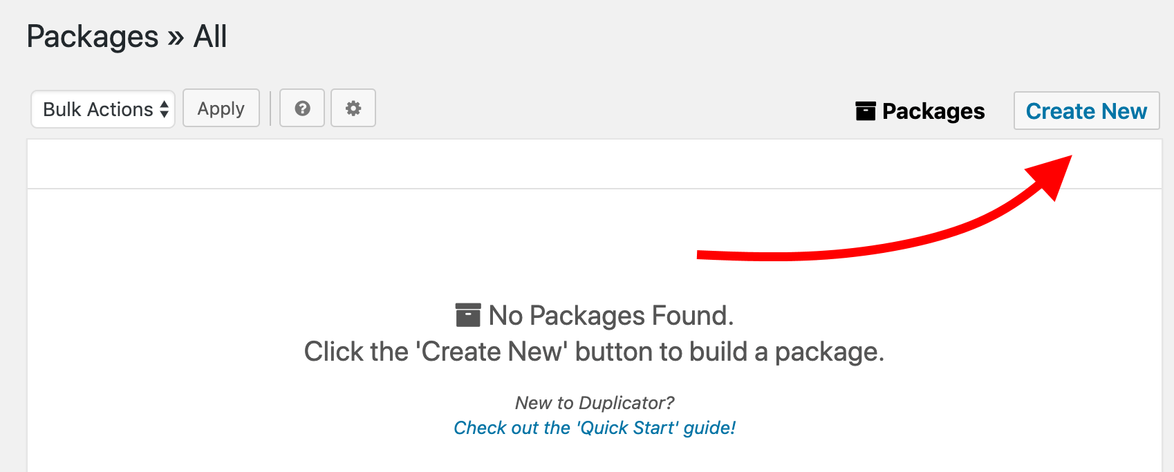 Move WordPress to a new server or host: first create a new backup