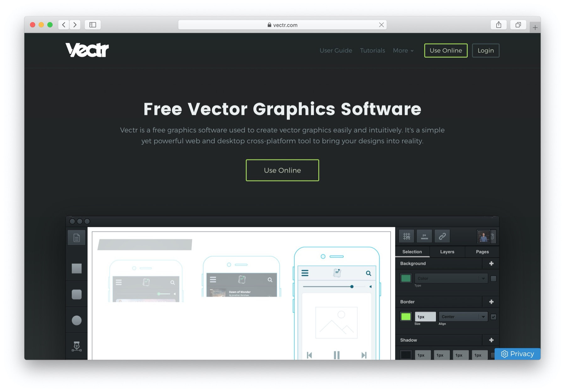 Sketch alternatives for Windows: vectr