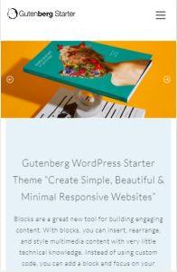 Gutenberg Starter Theme on mobile