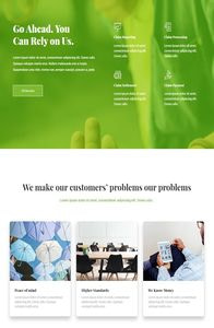 An Insurance Homepage on mobile