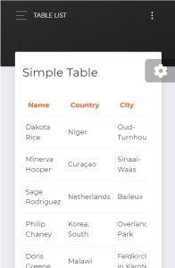 Now UI Dashboard Angular on mobile