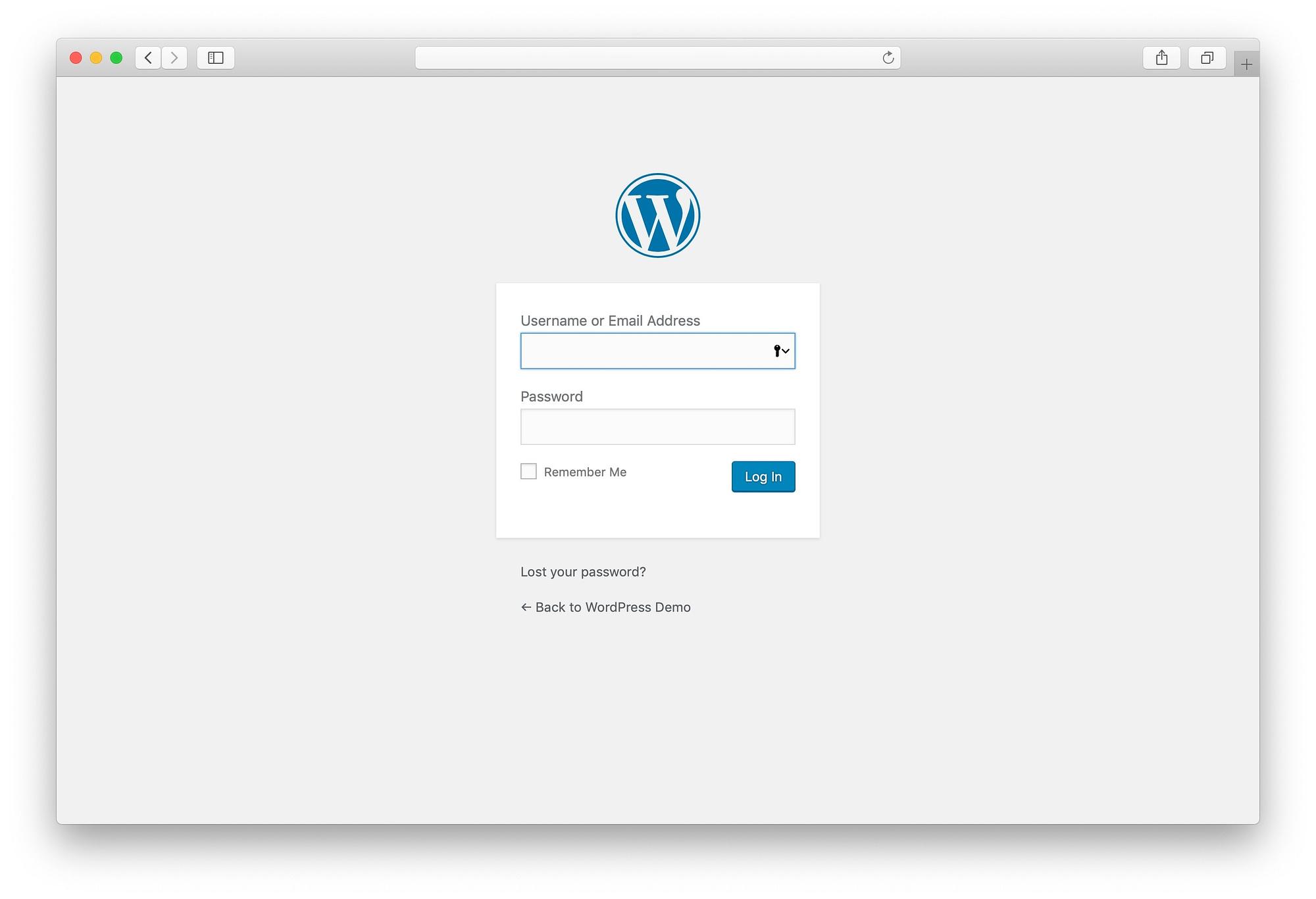 WordPress 5.0 login