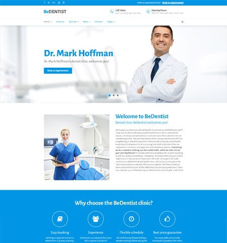 BeDentist Medical WordPress Theme