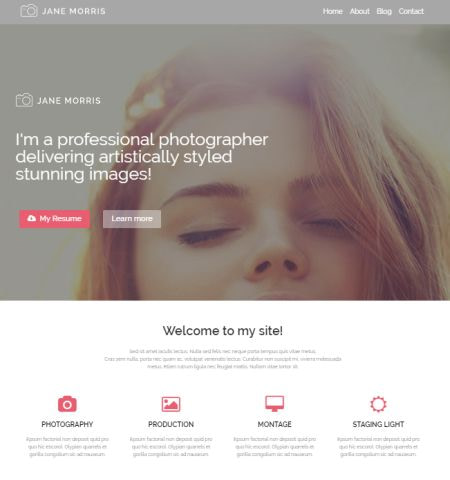 photographer portfolio theme