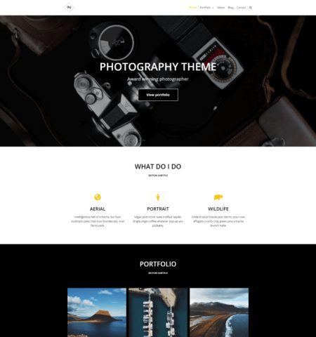 best free wordpress templates for photographers