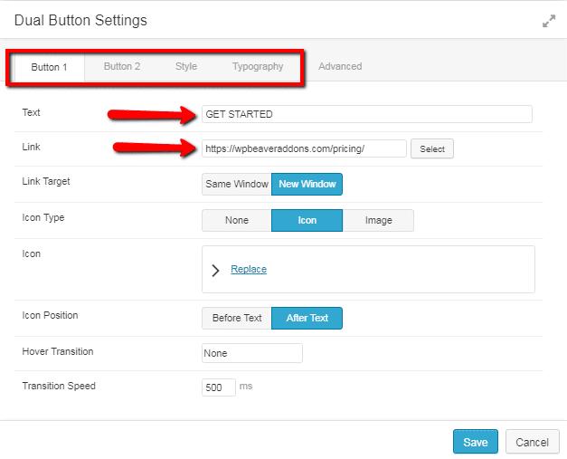 dual button settings