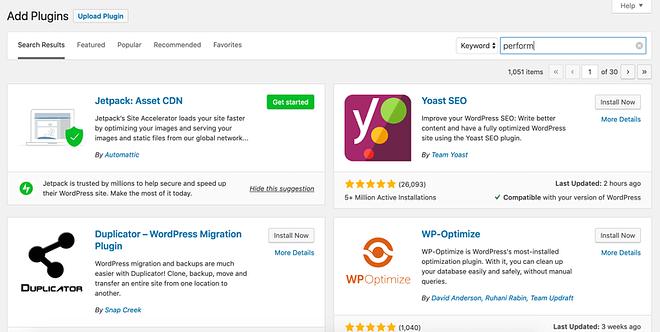 May 2019 WordPress news - Jetpack promotion in plugin seach screen