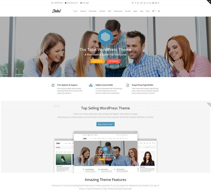 Best WordPress themes #7: total pro