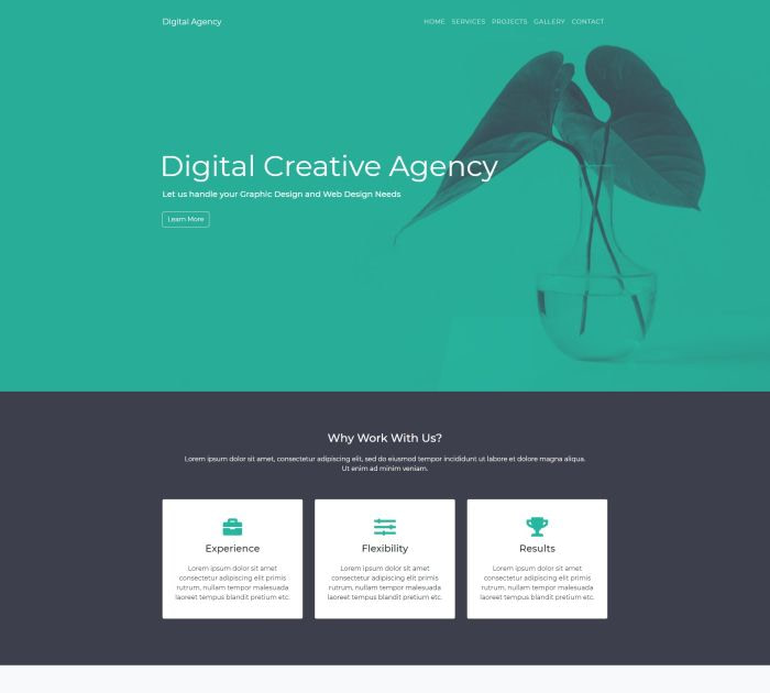 Best Bootstrap 4 templates: Digital Agency