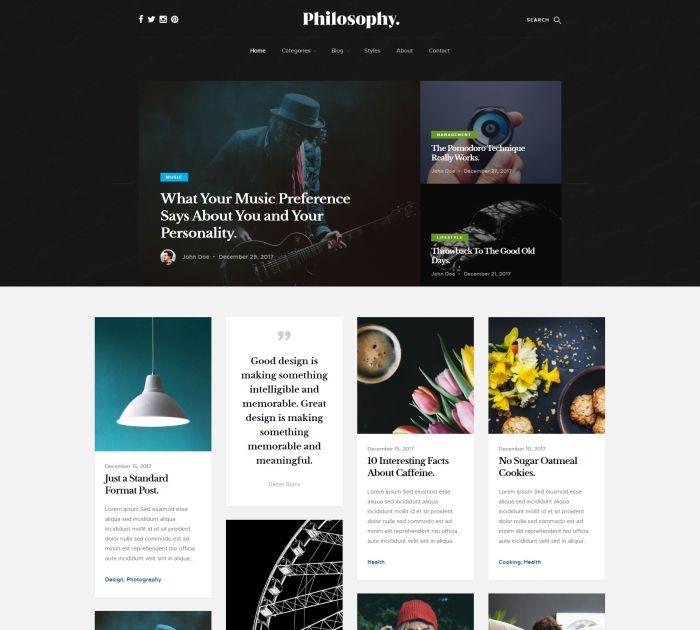 Best Bootstrap 4 templates: Philosophy
