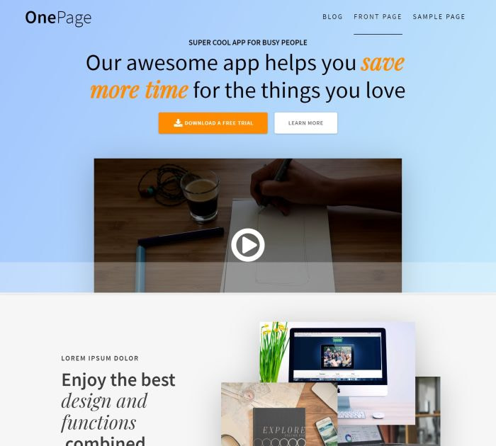 onepage express