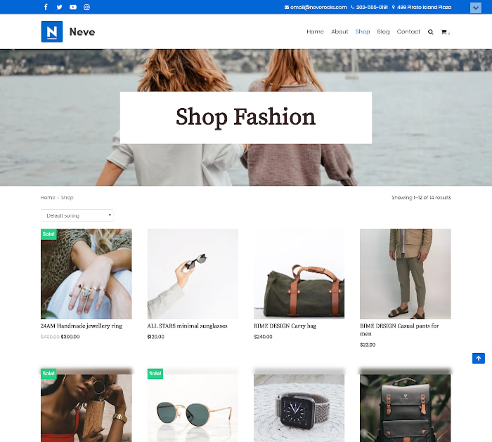 Fastest WooCommerce themes: Neve