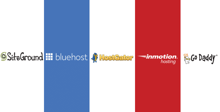 SiteGround vs Bluehost vs HostGator vs InMotion vs GoDaddy