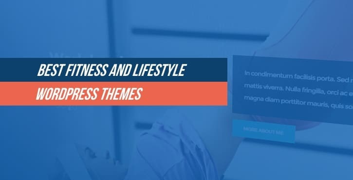 Fitness and lifestyle WordPress themes