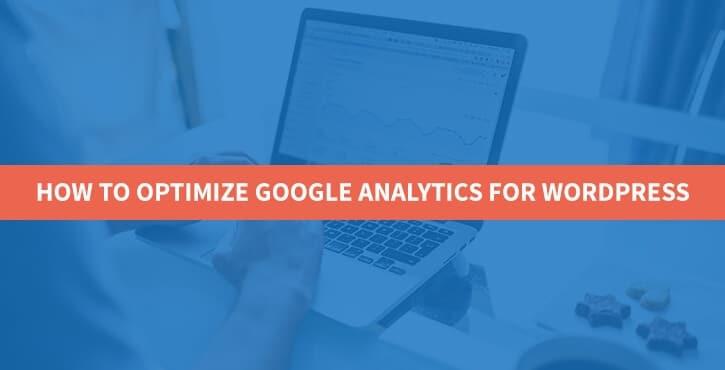optimize Google Analytics for WordPress